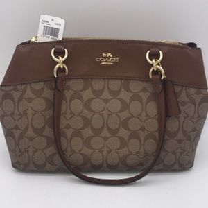 NWT Authentic Coach purse - Signature Brown